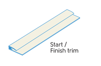 2.50m - 2 PART START/FINISH TRIM IVORY