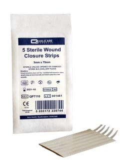 WOUND CLOSURE STRIP VARIOUS SIZES