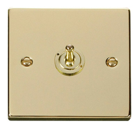 Click Deco Victorian Polised Brass 1Gang 2 Way Toggle Switch | LV0101.1824