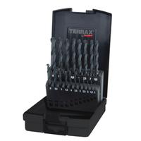 Terrax Twist Drill Set HSS Rolled 1-10mm