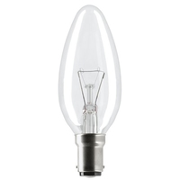 EVEREADY CLEAR CANDLE SBC 60W ROUGH SERVICE 2000HR
