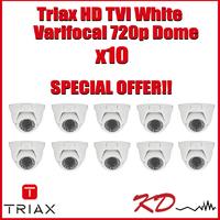 Triax Varifocal 720p TVI Dome  White X 10