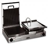Licnat LRG2 Double Contact Grill Ribbed Top Smooth Bottom