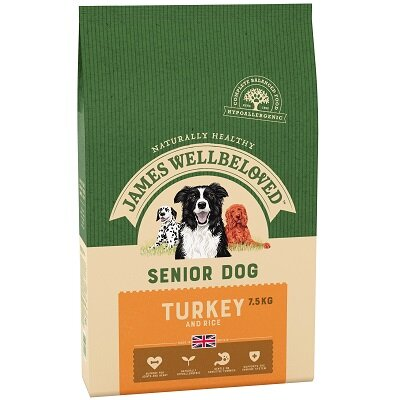 James Wellbeloved Turkey & Rice Senior Dog Food 7.5kg