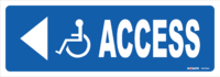 Disabled Logo ACCESS With LH Arrow
