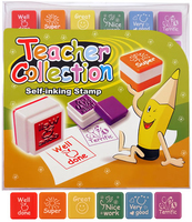 Stamps Self-ink Teachers. (Sold in displays of 36, min order 1 display)