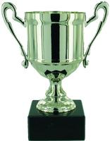 14cm Cast Metal Cup - Silver