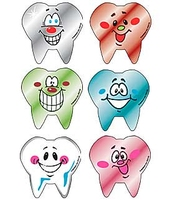 MEDIBADGE - TOOTH SHAPE FOIL SMILE STICKERS