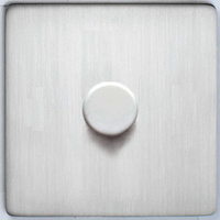 DETA Screwless 1gang Dimmer Satin Chrome | LV0201.0430