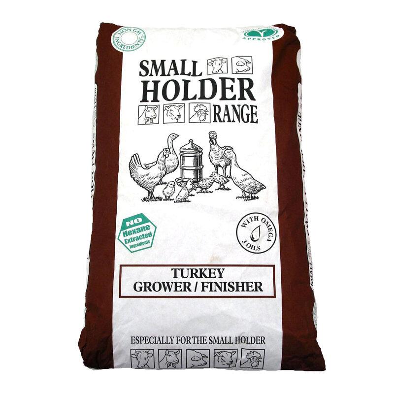 Allen & Page Small Holder Range Turkey Grower/Finisher Pellets 20kg