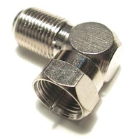 f-type right angled connector