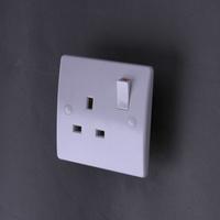 220-250V 50-60Hz 1G 13A single pole socket
