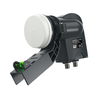 Wideband LNB 2-output, with bracket