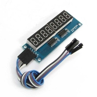 SERIAL DIGITAL TUBE 8 DIGITS MODULE WITH DUPRONT WIRE FOR ARDUINO