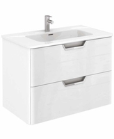 SONAS LYON 80CM WALL HUNG VANITY UNIT WHITE GLOSS W800MM X D460MM
