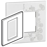 Arteor (British Standard) Plate 3 Module 1 Gang Square Tattoo | LV0501.2754