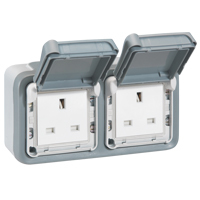 IP55 TWIN SOCKET OUTLET PLEXO