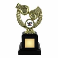 16cm Gold Boxing Trophy on Black Plinth