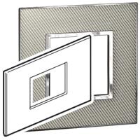 Arteor (British Standard) Plate 3 Module 2 Gang Square Woven Metal | LV0501.2266