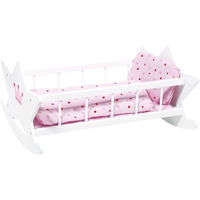 Wooden princess rocking cradle for dolls