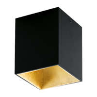 EGLO Polasso Black and Gold 1x3.3 LED 3000k Ceiling Light | LV1902.0100
