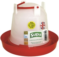 Supa Red & White Poultry Drinker 1.5 Litre x 3