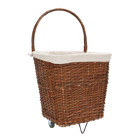 Natural Wicker Log Cart With Jute Liner - Hhfac039 (9279) (Carto
