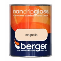 BERGER NON-DRIP GLOSS PAINT MAGNOLIA 750 ML