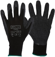 Black Crinkle Finish Latex 13g Glove Pkt 12