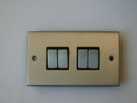 4 Gang 2 Way INGOT Satin Chrome Switch