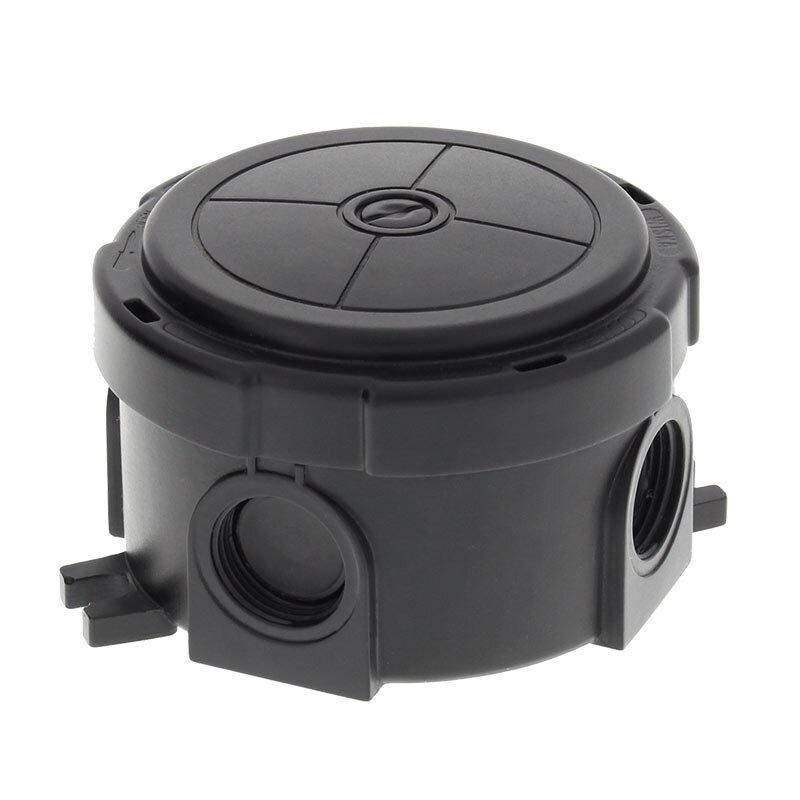 Wiska Combi 304 Round Junction Box Black 10110636