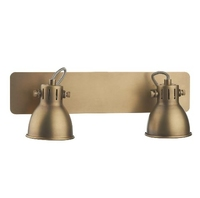 Idaho Duo Wall Light Bar Spot, GU10 Natrual Brass | LV1802.0032