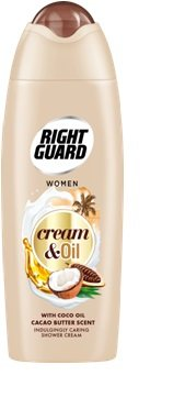 Right Guard Cream And Oil Cacao Butter Shower Gel 250ml