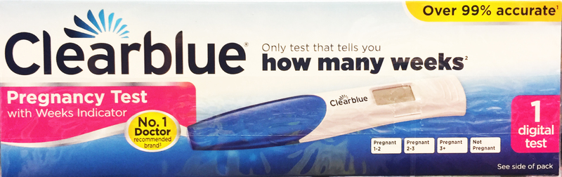 Clearblue Digital Pregnancy Test Single Test - Pharmacy Supplies