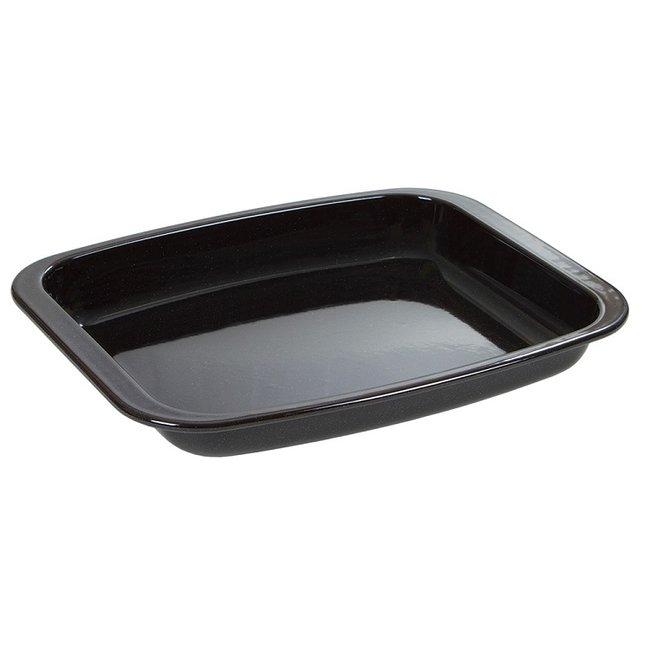 Wham New Black Vitreous Enamel Medium Roaster Roasting Dish Pan 32cm 55100 Unknown
