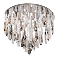 EGLO Calonda Chrome and Crystal 8x33w LED Ceiling Light | LV1902.0098