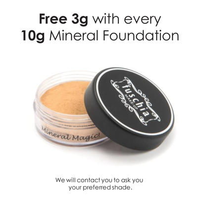 Mineral Foundation 10g (Large)     FREE 3g with every 10g purchased