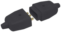 HEAVY DUTY INLINE 3 PIN CONNECTOR 10 AMP BLACK