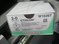 SUTURES ETHILON 2/0 x 75cm x PK24+26MM-BLUE
