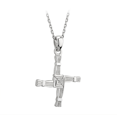 SILVER ST BRIGID CROSS PENDANT