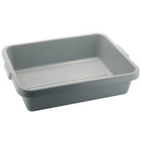 Tote Box Plastic Grey 21 x 15.5""
