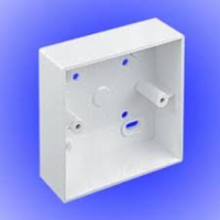 SINGLE SURFACE BOX 32MM PVC MSSB91WH