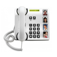 Large button amplified telephone