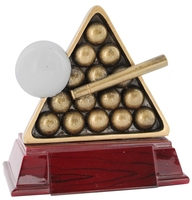 11cm Balls Racked with Cue (Ant Gold)