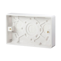 2 Gang 25 mm PVC Socket Box