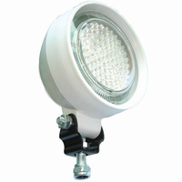 "White 5"" Round LED Rubber Flood Lamp 12/24V  CA6140"