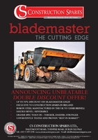 "ANNOUNCING UNBEATABLE ""DOUBLE DISCOUNT"" OFFER ON BLADEMASTER CUTTING EDGES"