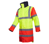 SIOEN 428A Thoras Hi Visibility School Traffic Warden Jacket (Red/Yellow/Black)