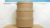 HAT BOX BROWN KRAFT SET OF 3 BOXES **AVAILABLE OCTOBER**
