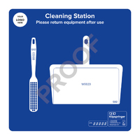 Cleaning Station with Dustpan and Brush